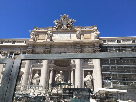 The Trevi Fountain (under restoration)