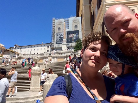 Standing in front of the Spanish Steps