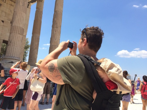 Exploring the Acropolis in Athens with the Ergo.