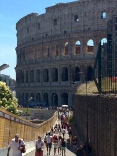 The colosseum in Rome, June 2015.